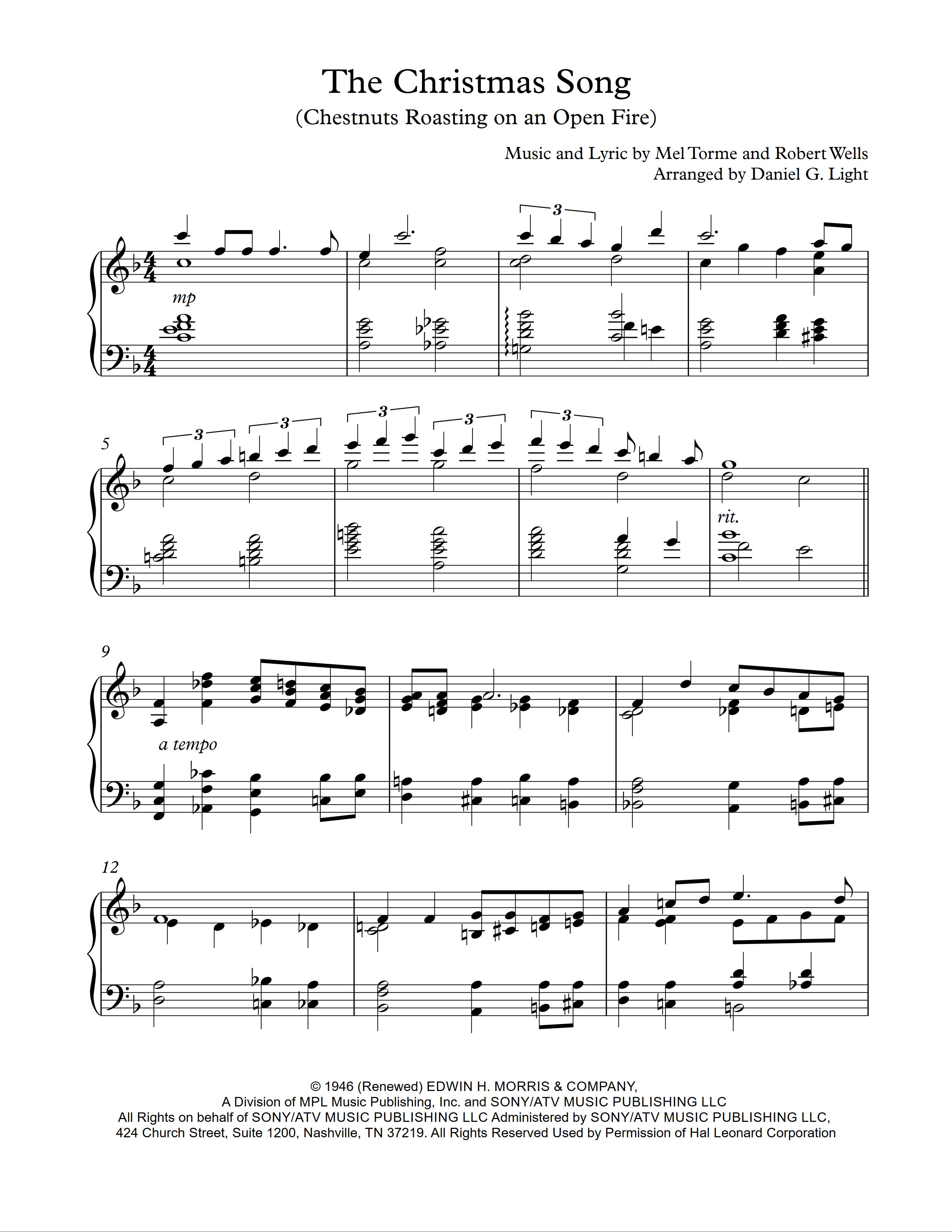 Light Of Christmas Lyrics.The Christmas Song